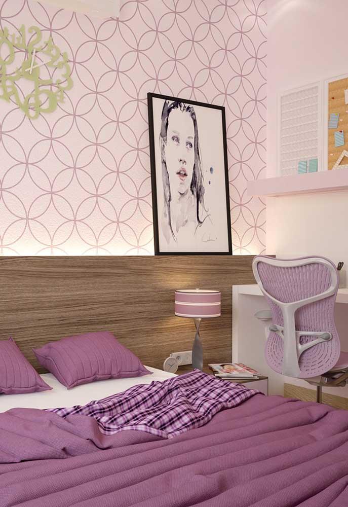 Invista em tons de rosa para parede, especialmente, nos quartos de jovens e casais.