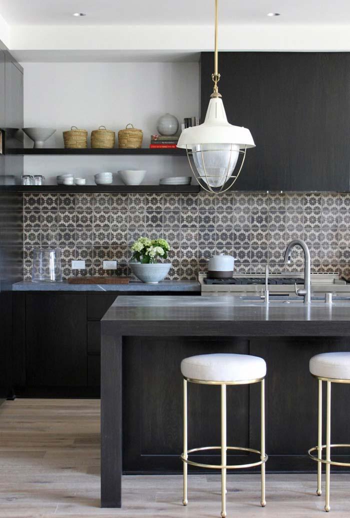 Cozinha preta e branca 60 modelos apaixonantes para decora o for Decoraciones de apartamentos 2016