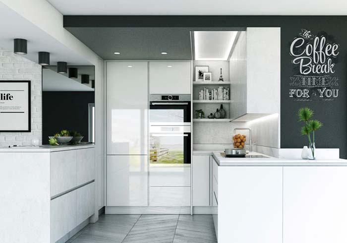 Cozinha preto e branca: neutralidade