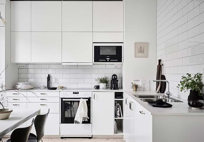 Cozinha Preta E Branca 60 Modelos Apaixonantes Para Decoração