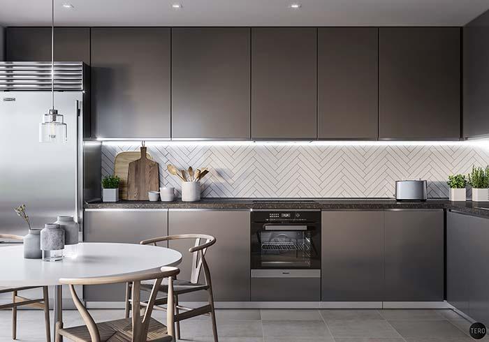 Cozinha preta e branca: 60 modelos apaixonantes na decoração