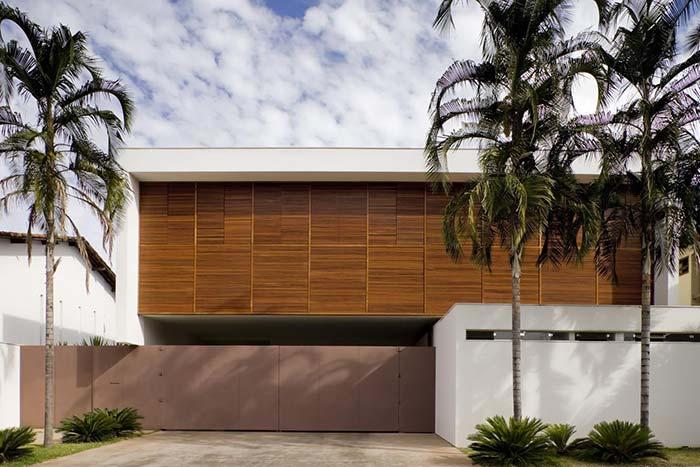 Muro branco de concreto