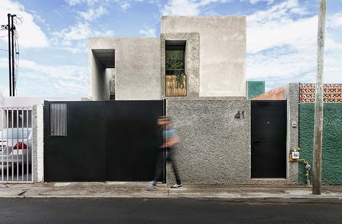 Muro de cimento rústico