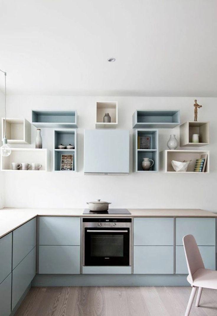 Nichos para cozinha propondo um visual clean