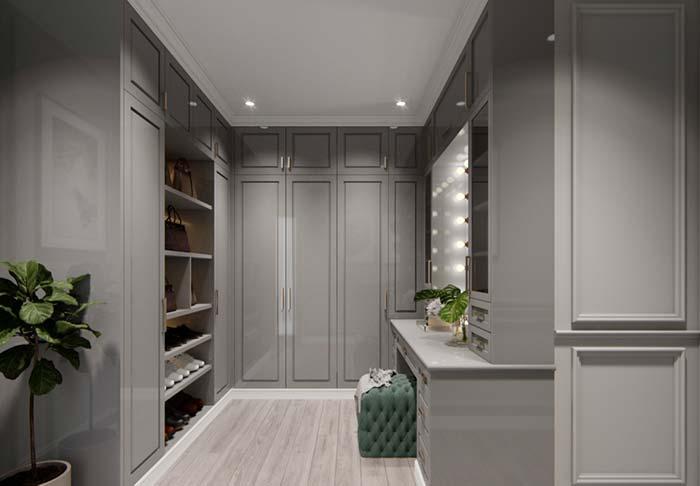 Closet feminino clean e elegante