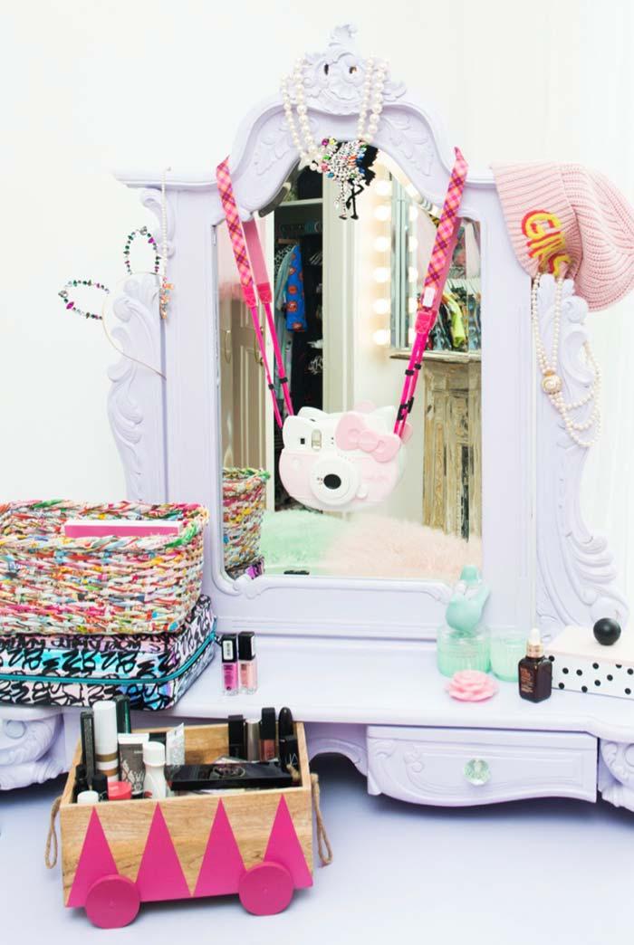 Closet infantil com espelho