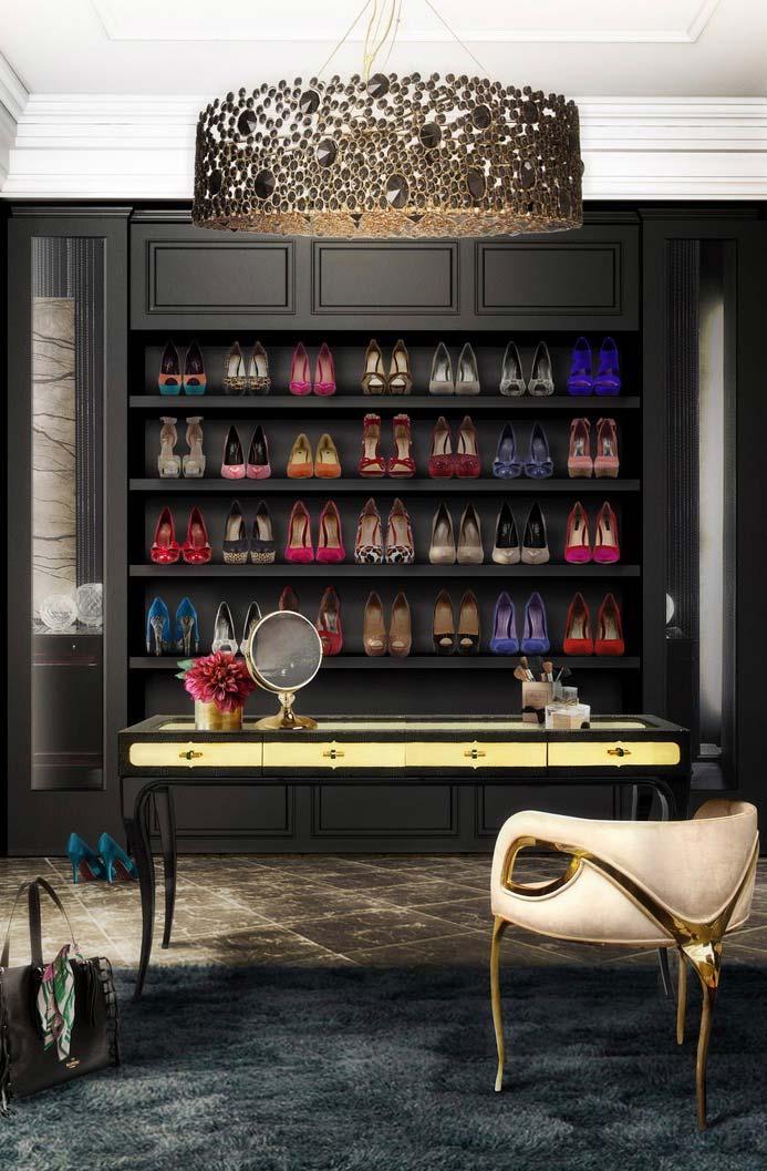 Closet de estilo vitoriano: glamour e elegância