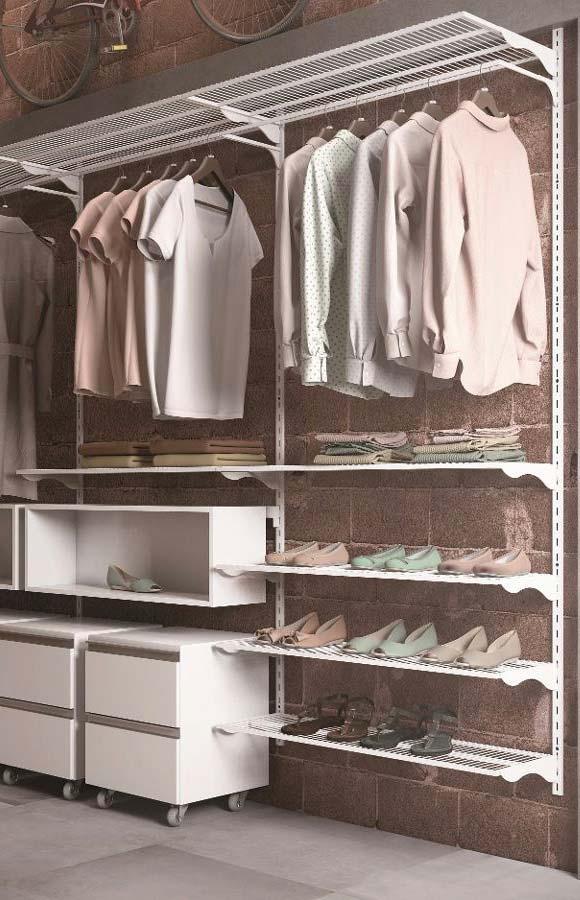 Closet aramado é uma opção bonita e econômica