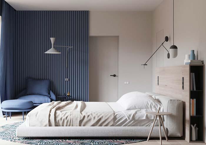 Poltrona para quarto azul