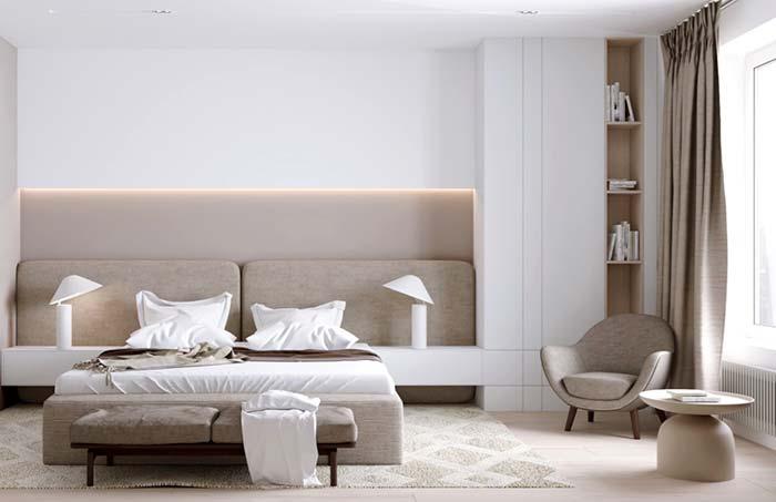 Combine o tecido da poltrona com outros elementos do seu quarto