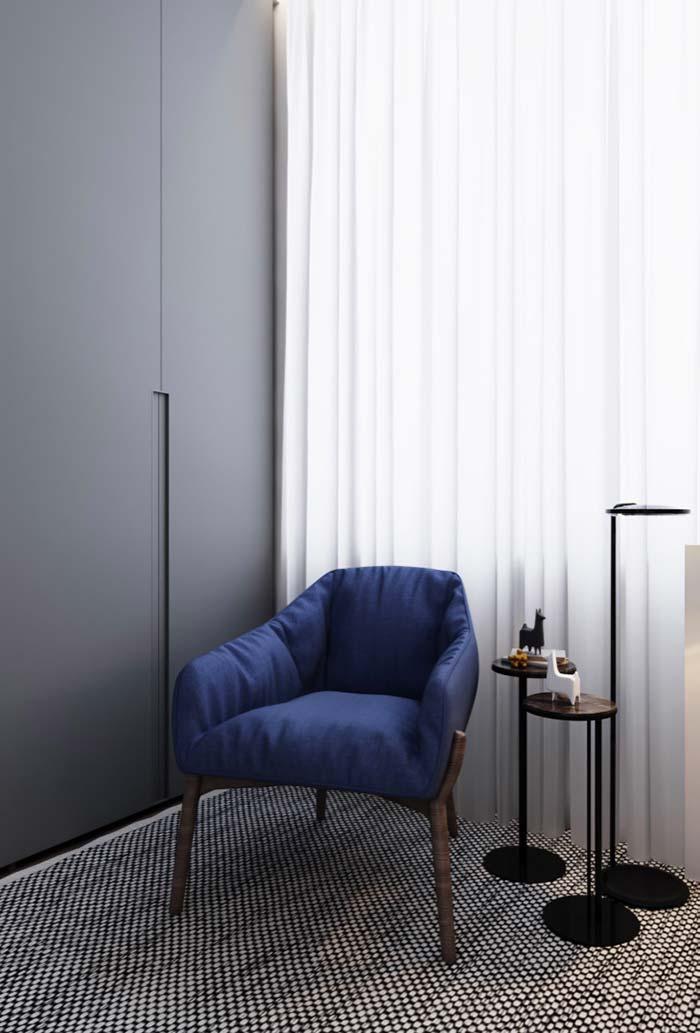 Conforto e design na poltrona para quarto