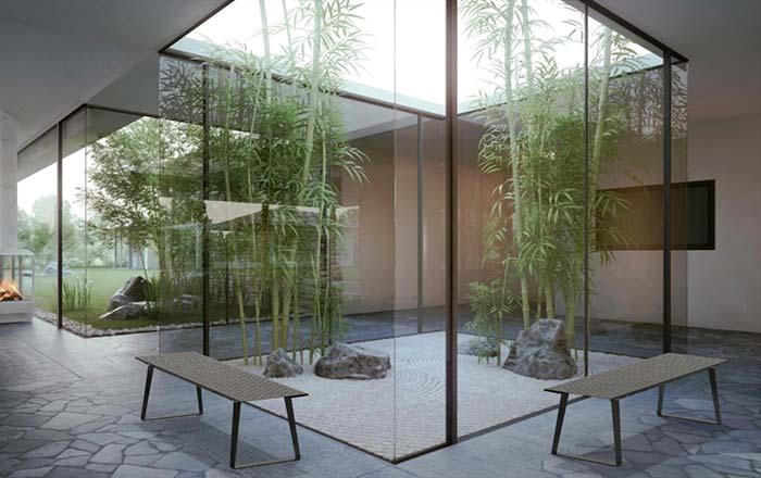 Jardim zen de proporção real