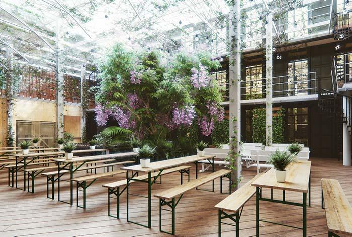 Jardim interno proporcional à área disponível