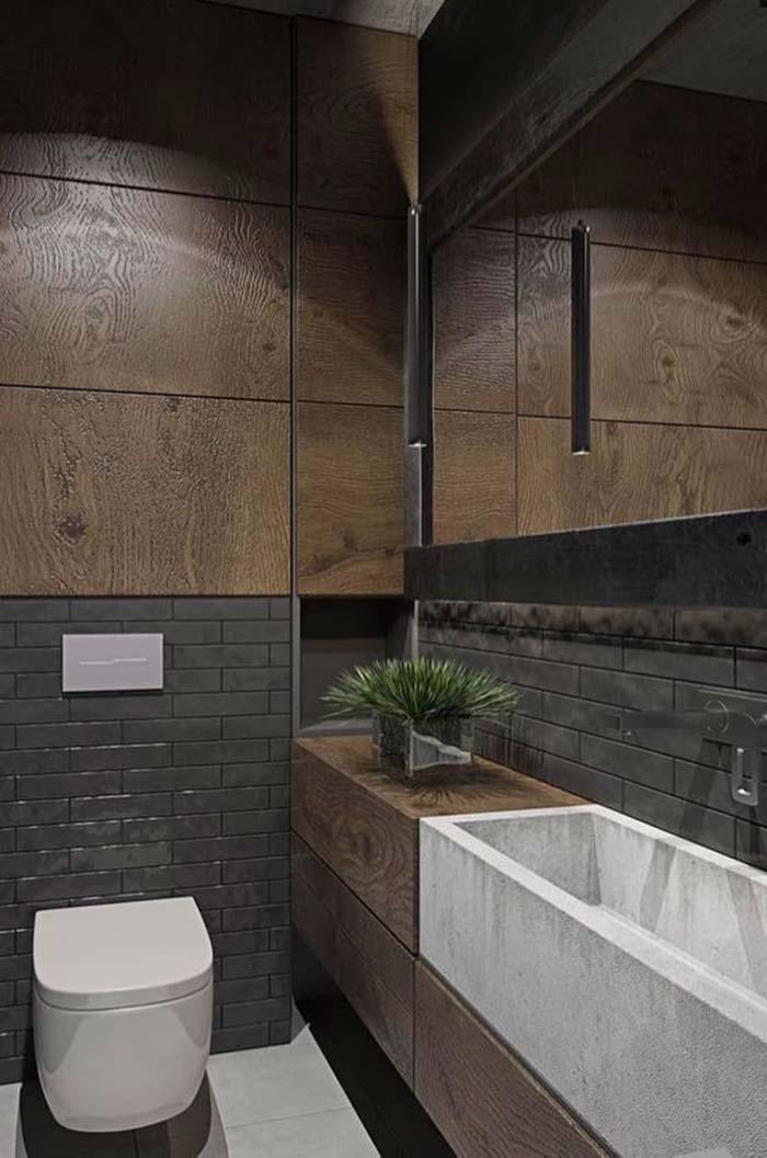 Combinação de estilos no lavabo
