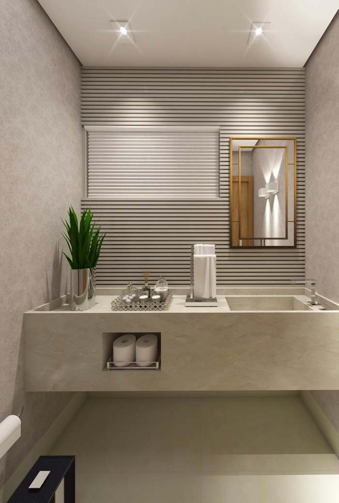 lavabo 60 fotos de decora o e projetos de lavabos. Black Bedroom Furniture Sets. Home Design Ideas