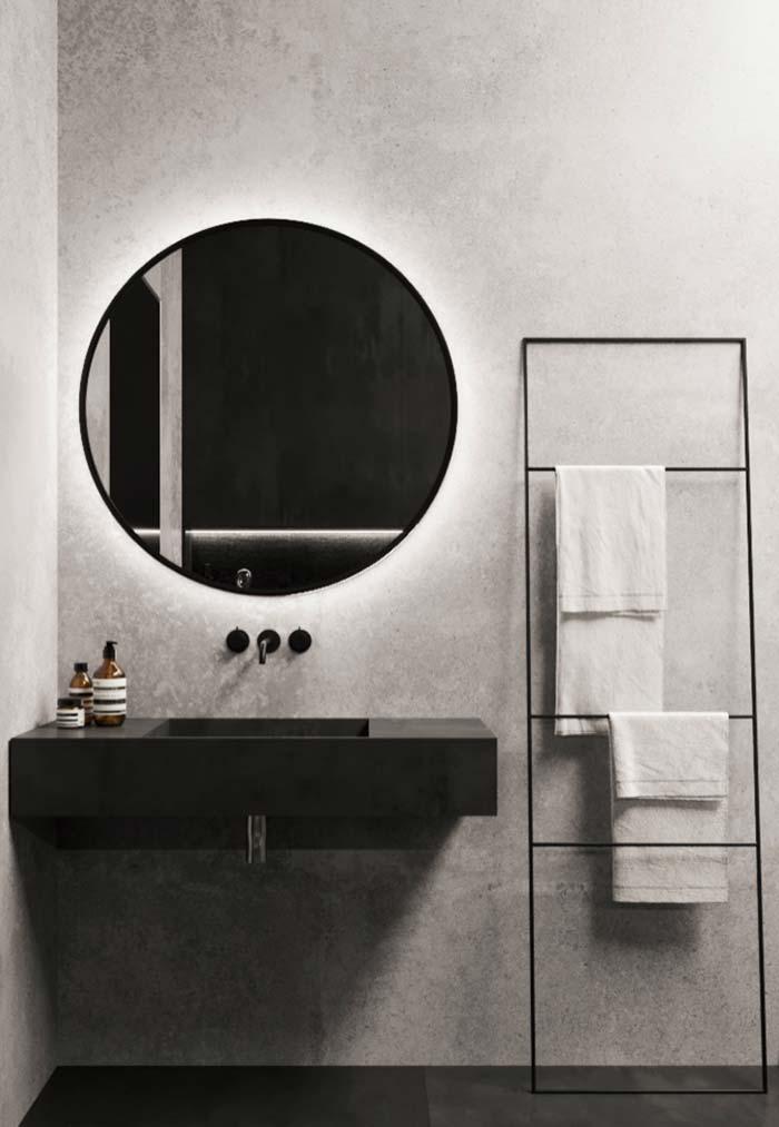 Lavabo 60 fotos de decora o e projetos de lavabos for Lavabo minimalista