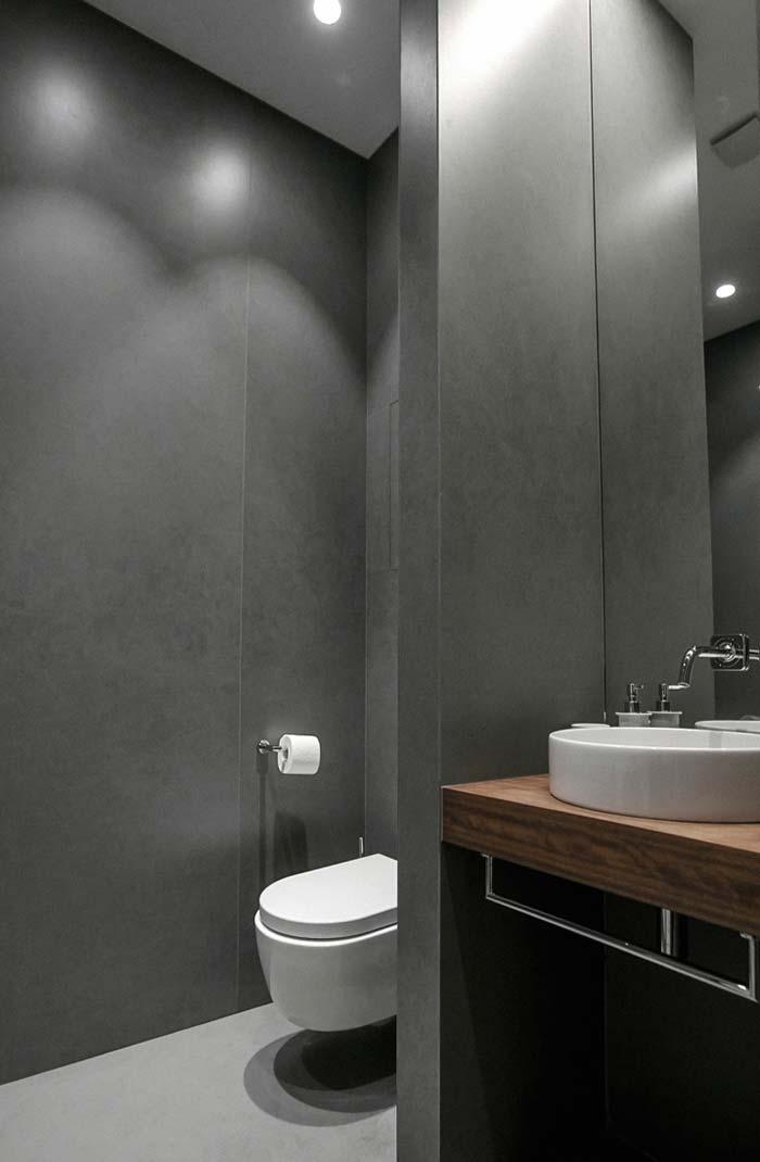 Divisória de ardósia no lavabo