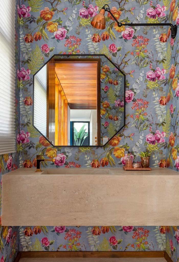 Papel de parede bonito para lavabo