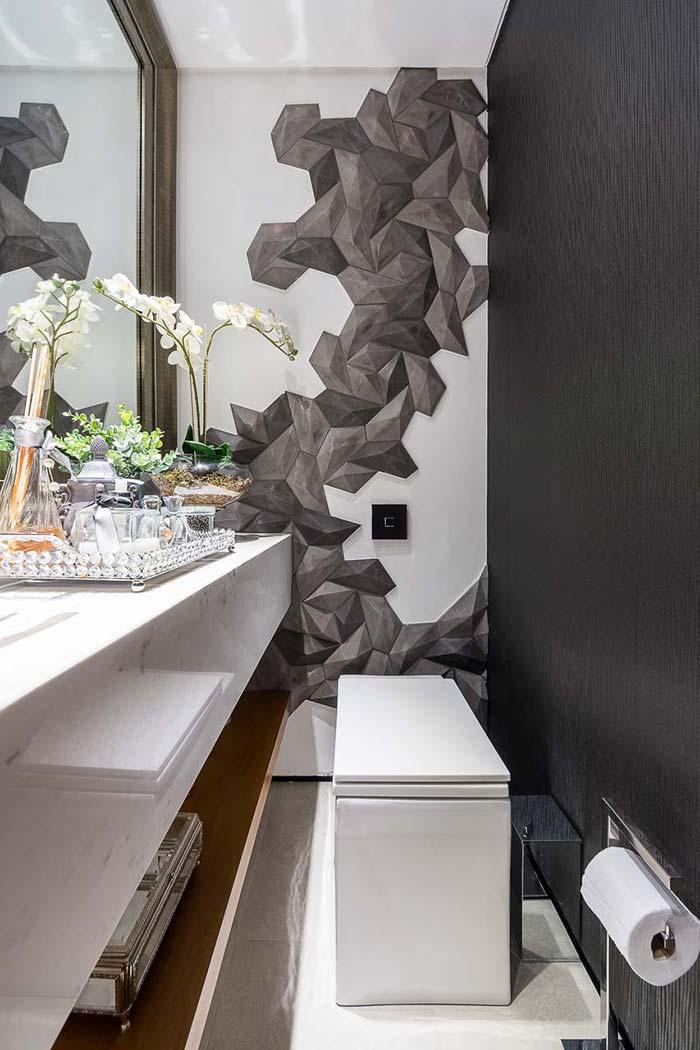 Lavabo com parede 3D