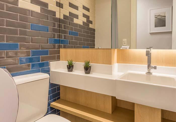 Subway tiles no lavabo