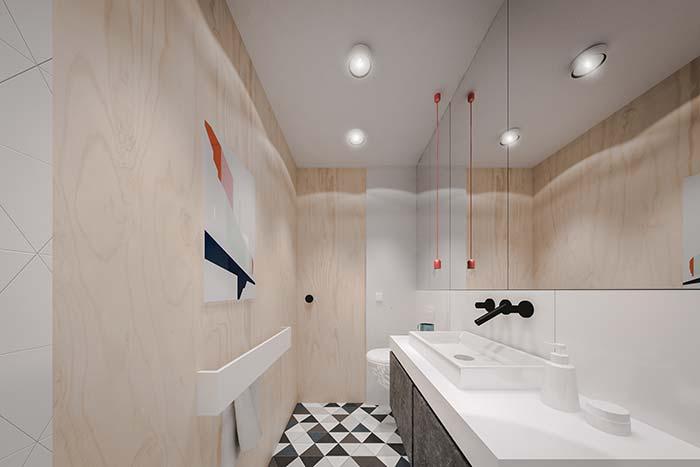 Um toque de cor no lavabo