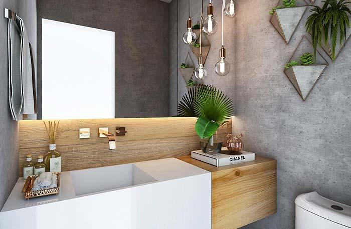 Plantas são bem vindas na decoração de lavabos