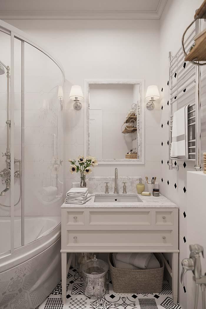 Decoração provençal no banheiro