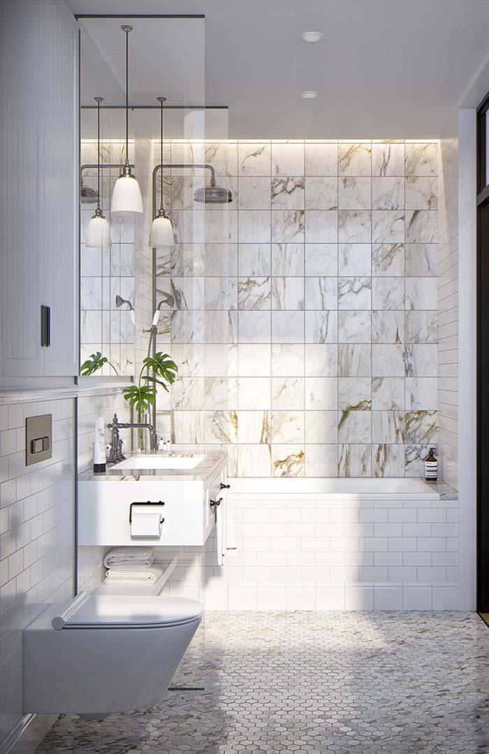 Sofisticação e elegância na decoração provençal do banheiro