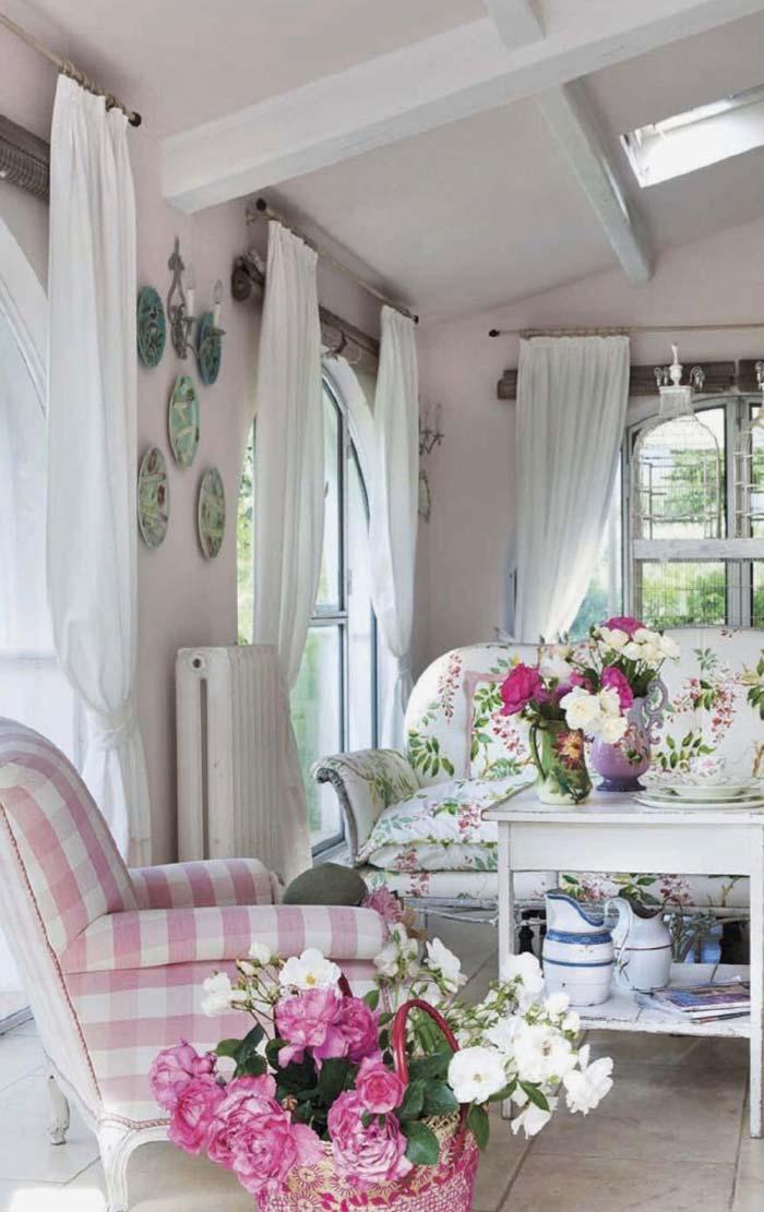 Tons de rosa para criar um efeito romântico na decoração provençal