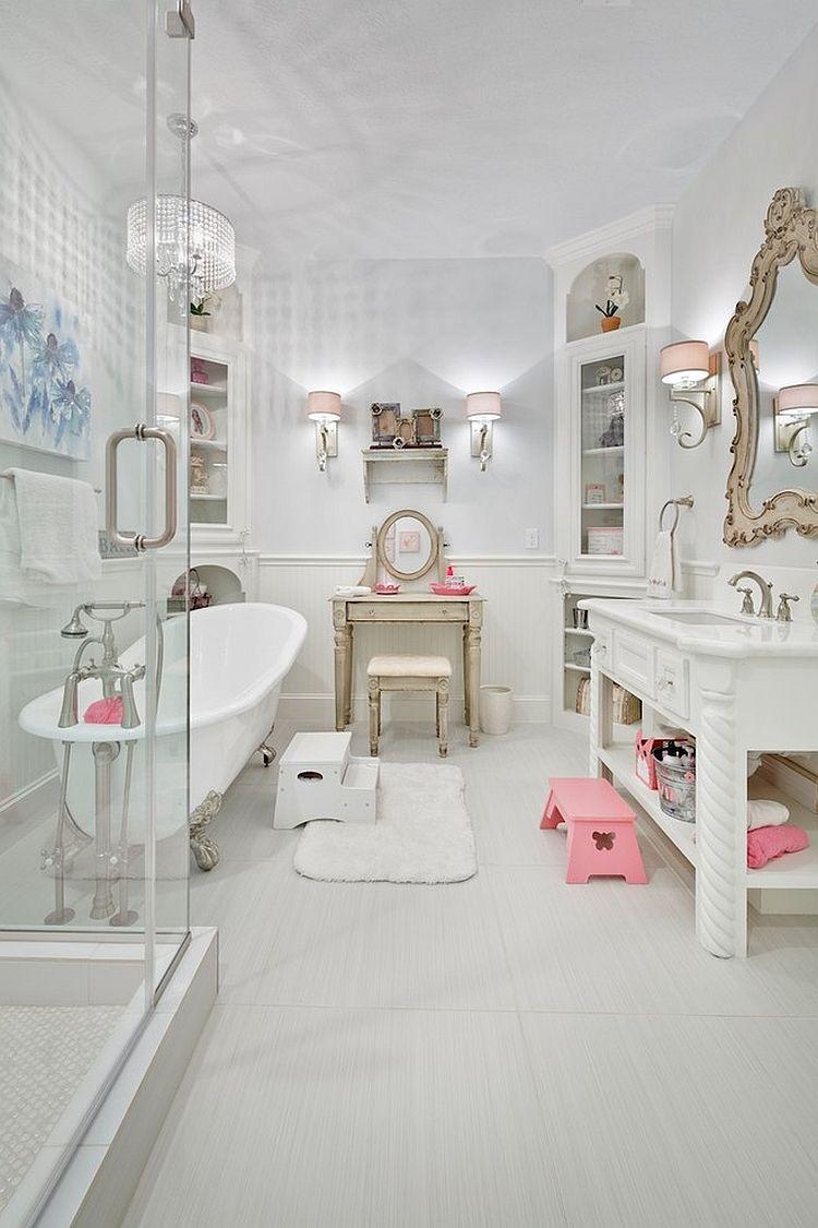 Banheiro provençal infantil