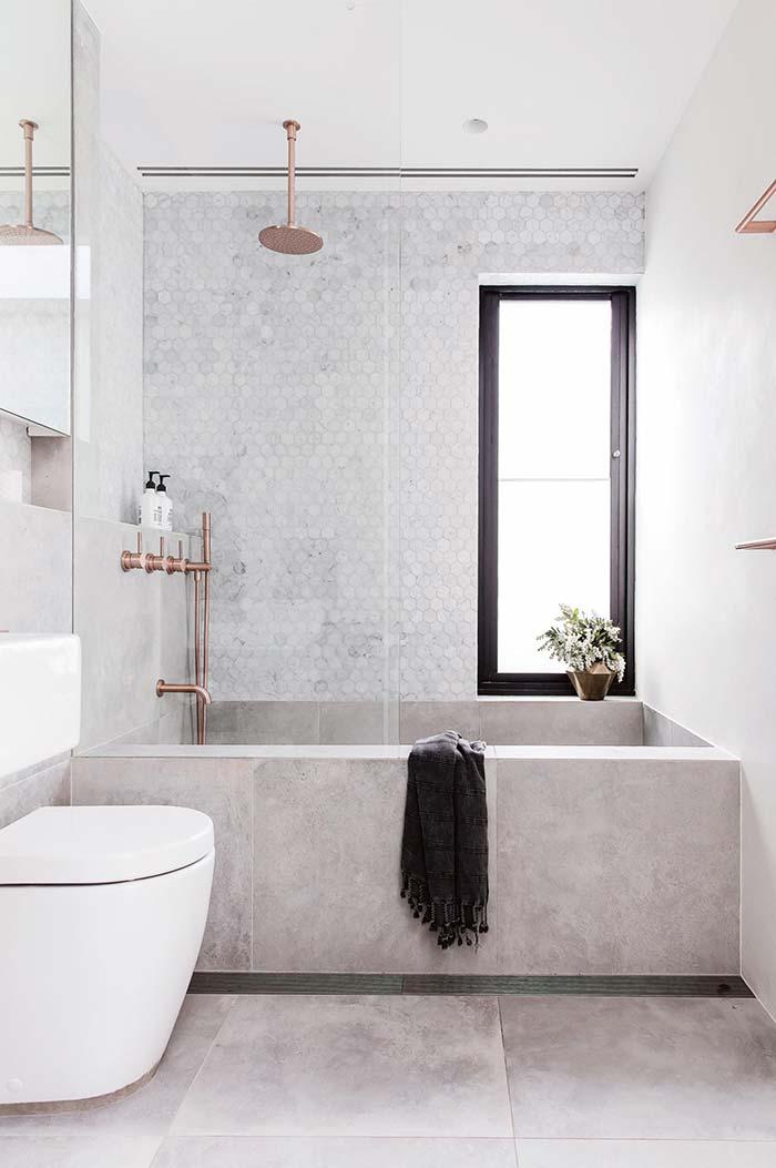 Banheiro feminino clean e sofisticado