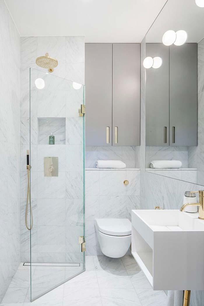 Banheiro feminino branco