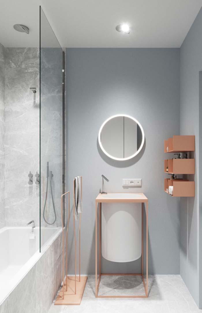 Banheiro feminino moderno e delicado