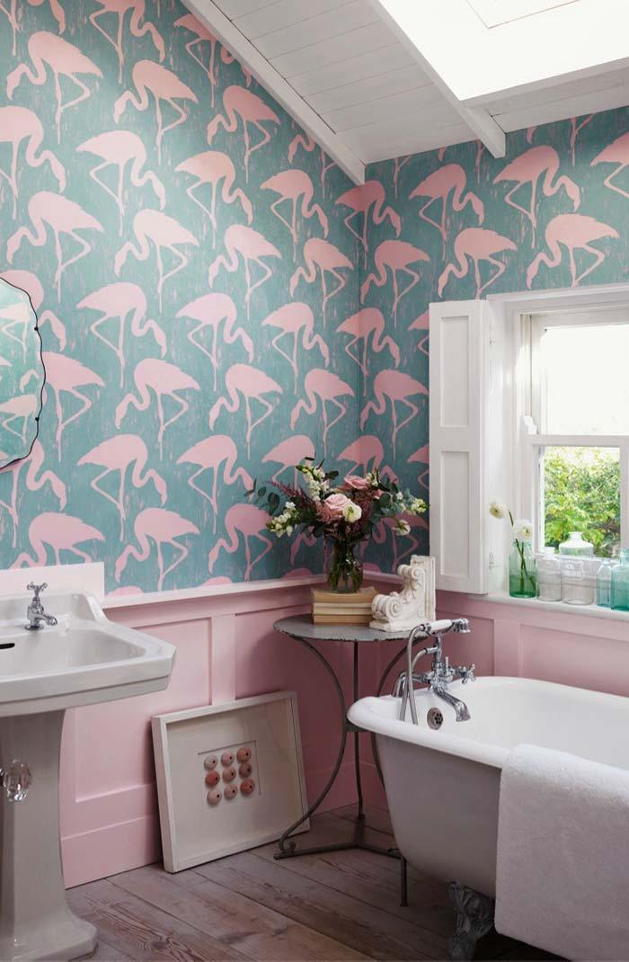 Papel de parede de flamingos