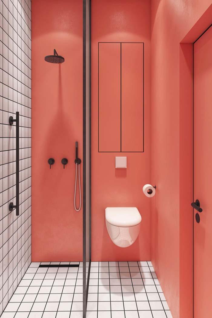 Banheiro feminino tricolor