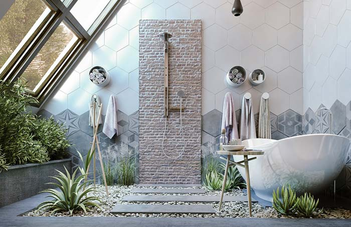 Banheiro feminino na natureza