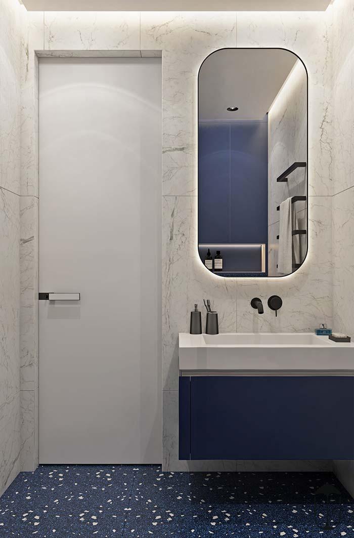 Espelho para banheiro com cantos arredondados