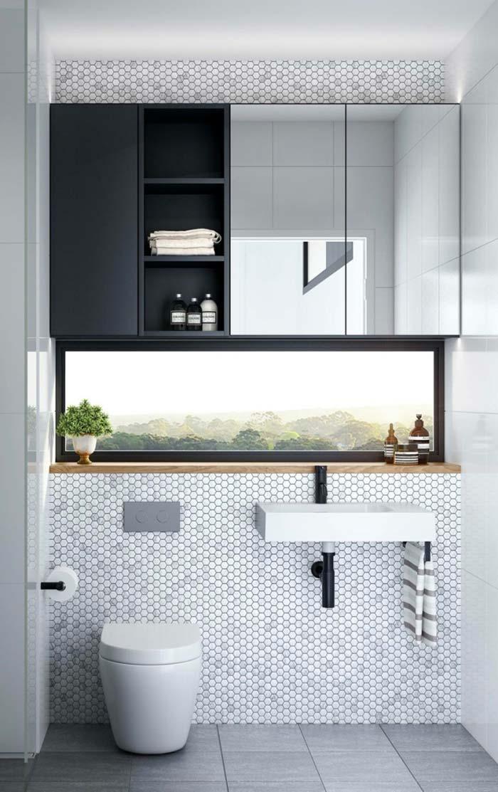 Gabinete com espelho embutido