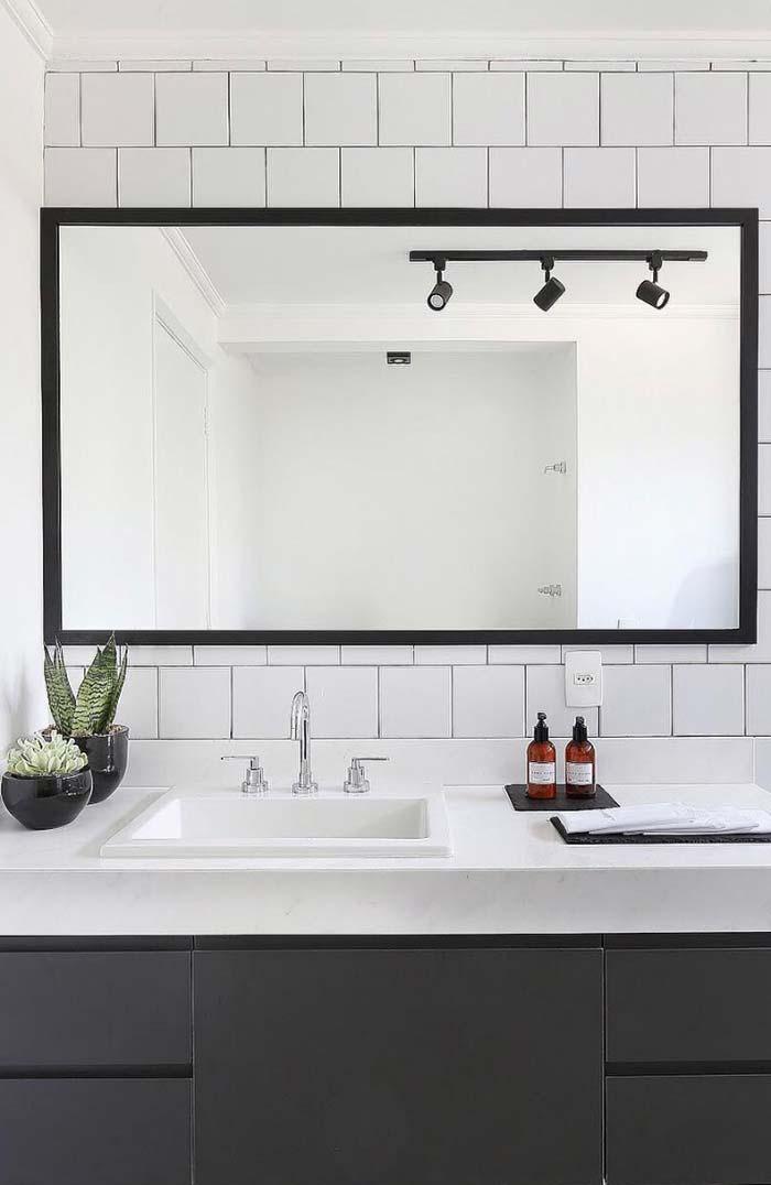 Espelho de banheiro retangular