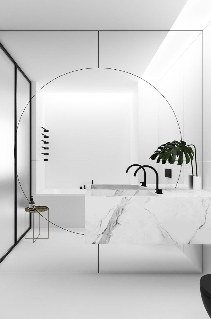 Espelho para banheiro de grande proporção
