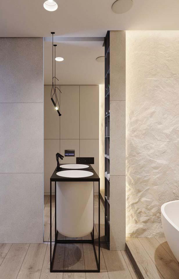 Espelho para banheiro do chão ao teto