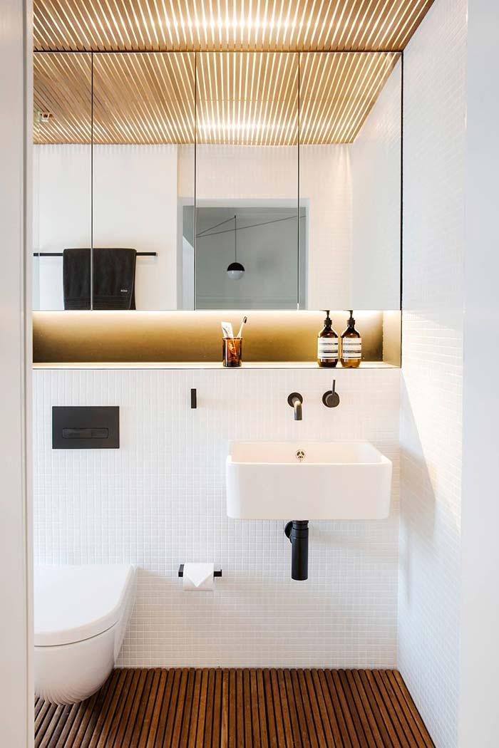 Espelho para banheiro emendado
