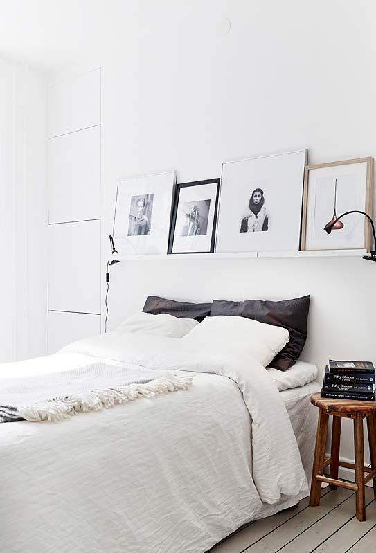 Em fotografias e quadros na parede