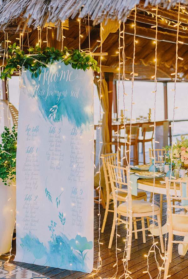 Mini wedding rústico em clima praiano