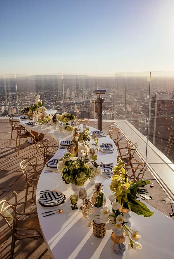Mini wedding restaurante com mesa única