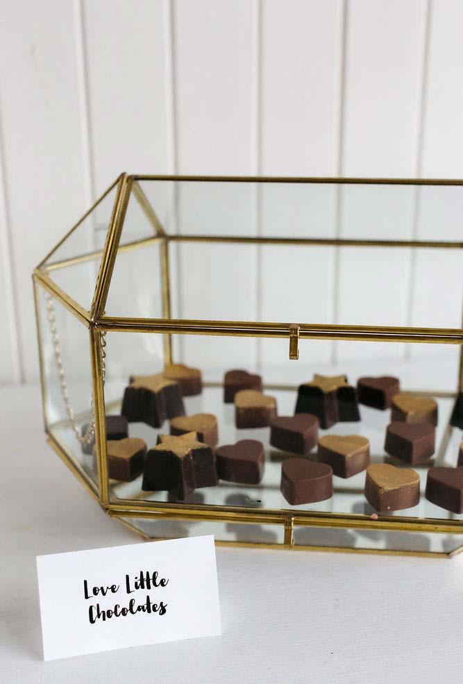 Chocolates no fim da festa mini weding