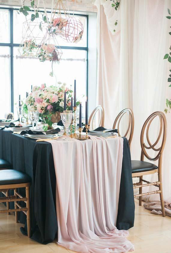 Grandes tecidos na decoração do mini wedding