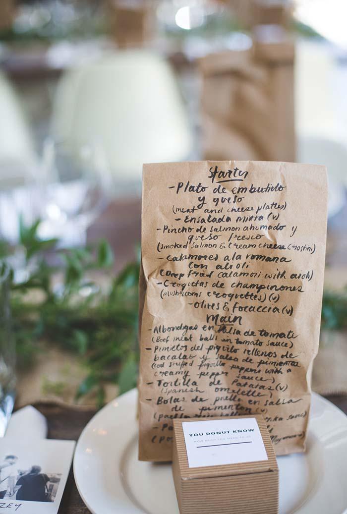 Lettering sobre papel no mini wedding
