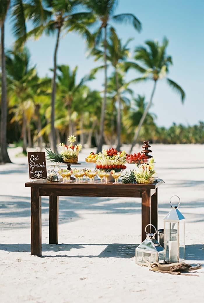 Mini wedding para casamento na praia