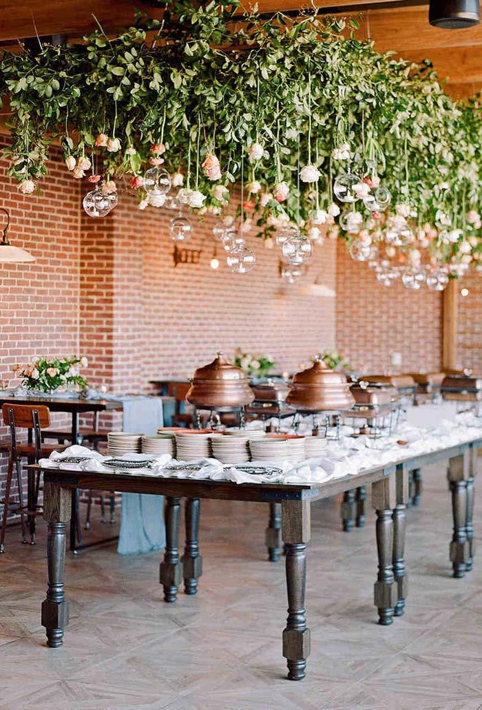 Buffet self-service no mini wedding